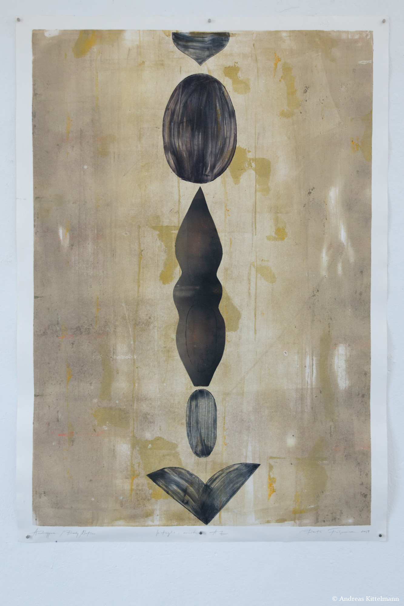 Beata Filipowicz, Androgyne, 2019, Intaglio: monotype, Author's Edition, 104 x 74 cm, aus der Serie BODY MATRICES